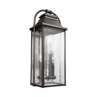 Wellsworth 3 Light 18 inch Antique Bronze Outdoor Wall Lantern