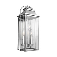 Feiss OL13200PBS Wellsworth 3 Light 18 inch Painted Brushed Steel Outdoor Wall Lantern