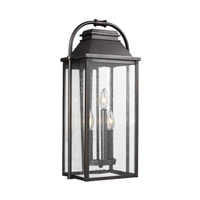 Feiss OL13201ANBZ Wellsworth 3 Light 23 inch Antique Bronze Outdoor Wall Lantern