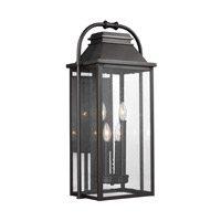 Wellsworth 4 Light 27 inch Antique Bronze Outdoor Wall Lantern