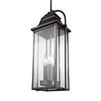 Wellsworth 3 Light 9 inch Antique Bronze Outdoor Pendant