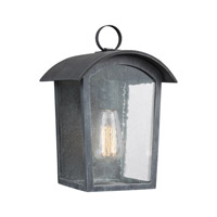 Hodges 1 Light 12 inch Ash Black Outdoor Wall Lantern