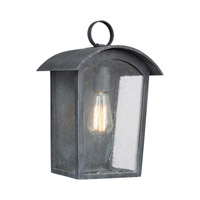 Hodges 1 Light 14 inch Ash Black Outdoor Wall Lantern