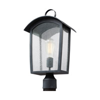 Feiss OL13307ABLK Hodges 1 Light 20 inch Ash Black Outdoor Post Lantern