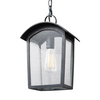Hodges 1 Light 9 inch Ash Black Outdoor Pendant