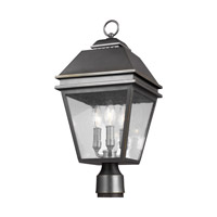 Feiss OL13507ANBZ Herald 3 Light 21 inch Antique Bronze Outdoor Post Lantern