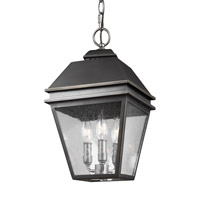 Herald 3 Light 10 inch Antique Bronze Outdoor Pendant
