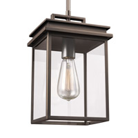 Chappman 1 Light 8 inch Antique Bronze Outdoor Pendant