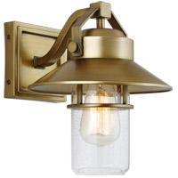 Boynton 1 Light 11 inch Painted Distressed Brass Outdoor Wall Lantern