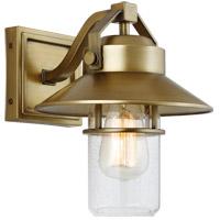 Feiss OL13900PDB Boynton 1 Light 11 inch Painted Distressed Brass Outdoor Wall Lantern