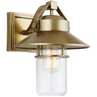 Boynton 1 Light 13 inch Painted Distressed Brass Outdoor Wall Lantern