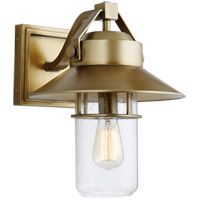 Boynton 1 Light 15 inch Painted Distressed Brass Outdoor Wall Lantern