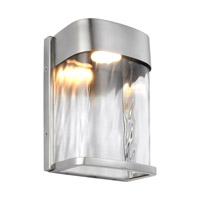 Bennie LED 8 inch Painted Brushed Steel Outdoor Wall Lantern