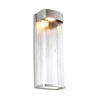Bennie LED 16 inch Painted Brushed Steel Outdoor Wall Lantern