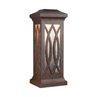 Rolland LED 18 inch Walnut Outdoor Wall Lantern