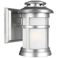 Newport 1 Light 9 inch Painted Brushed Steel Outdoor Wall Lantern