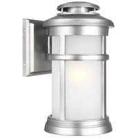 Newport 1 Light 13 inch Painted Brushed Steel Outdoor Wall Lantern