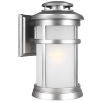 Newport 1 Light 16 inch Painted Brushed Steel Outdoor Wall Lantern
