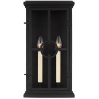 Feiss OL15301TXB Belleville 2 Light 18 inch Textured Black Outdoor Wall Lantern