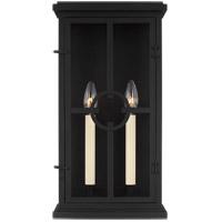 Feiss OL15301TXB Belleville 2 Light 18 inch Textured Black Outdoor Wall Lantern