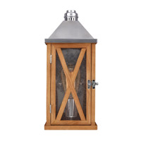 Feiss Lumiere 1 Light Outdoor Lantern Wall Sconce in Natural Oak and Brushed Aluminum OL17000NO