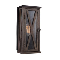 Lumiere 1 Light 15 inch Dark Weathered Oak and Oil Rubbed Bronze Outdoor Lantern Wall Sconce