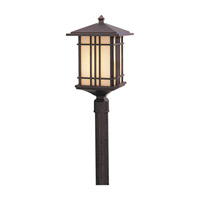 Feiss Prairie House 1 Light Post Lantern in Weathered Patina OL1808WP