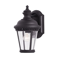 Castle 1 Light 12 inch Black Outdoor Wall Sconce in Standard, Clear Bent Beveled Glass