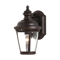 Castle 1 Light 12 inch Grecian Bronze Outdoor Wall Sconce in Standard, Clear Bent Beveled Glass