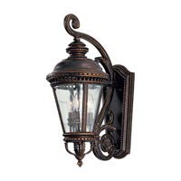 Castle 3 Light 23 inch Grecian Bronze Outdoor Wall Sconce