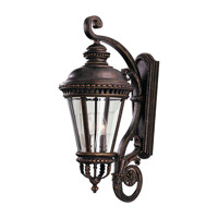 Castle 4 Light 32 inch Grecian Bronze Outdoor Wall Sconce