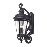 Castle 4 Light 37 inch Black Outdoor Wall Bracket
