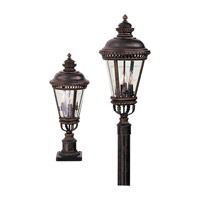 Castle 3 Light 22 inch Grecian Bronze Post Lantern