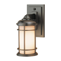 Lighthouse LED 11 inch Burnished Bronze Outdoor Wall Lantern in Integrated LED