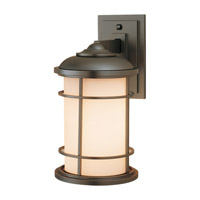 Lighthouse LED 14 inch Burnished Bronze Outdoor Wall Lantern in Integrated LED