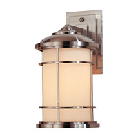 Lighthouse LED 14 inch Brushed Steel Outdoor Wall Lantern in Integrated LED