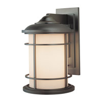 Lighthouse LED 15 inch Burnished Bronze Outdoor Wall Lantern in Integrated LED