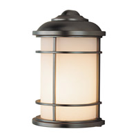 Lighthouse 1 Light 11 inch Burnished Bronze Outdoor Wall Lantern in Fluorescent