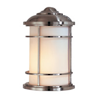 Lighthouse 1 Light 11 inch Brushed Steel Outdoor Wall Sconce in Standard