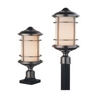 Lighthouse 1 Light 18 inch Burnished Bronze Outdoor Post Lantern in Fluorescent