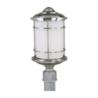 Lighthouse 1 Light 18 inch Brushed Steel Outdoor Post Lantern in Fluorescent