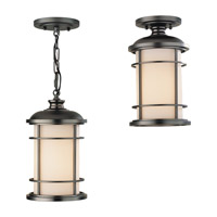 Lighthouse 1 Light 7 inch Burnished Bronze Outdoor Semi Flush Mount in Standard