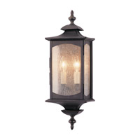 Feiss Market Square 2 Light Outdoor Wall Sconce in Oil Rubbed Bronze OL2601ORB