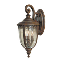 Feiss English Bridle 3 Light Outdoor Wall Sconce in British Bronze OL3001BRB photo thumbnail