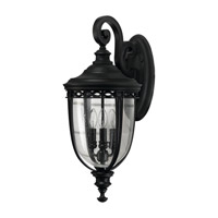 Feiss English Bridle 3 Light Outdoor Wall Sconce in Black OL3003BK