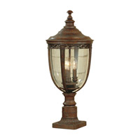 English Bridle 3 Light 23 inch British Bronze Post Lantern