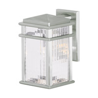 Feiss Mission Lodge 1 Light Outdoor Wall Lantern in Brushed Aluminum OL3401BRAL-F