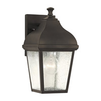 Terrace 1 Light 12 inch Oil Rubbed Bronze Outdoor Wall Lantern in Fluorescent