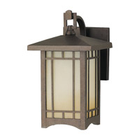 Feiss August Moon 1 Light Outdoor Wall Lantern in Corinthian Bronze OL5300CB-F
