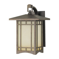 Feiss August Moon 1 Light Outdoor Wall Lantern in Corinthian Bronze OL5302CB-F